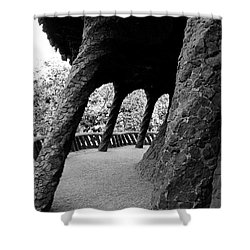 Stone Support Shower Curtain