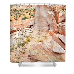Shower Curtain featuring the photograph Stone Tablet In Valley Of Fire by Ray Mathis