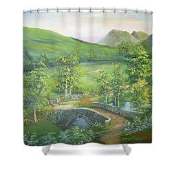 Stonebridge River Crossing Shower Curtain