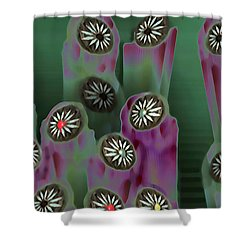 Stoned Flowers Shower Curtain