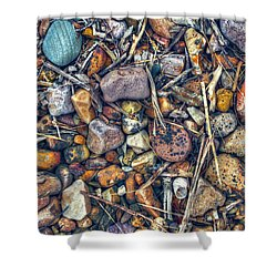Shower Curtain featuring the photograph Dry Creek by Wayne Sherriff