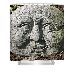 Shower Curtain featuring the photograph Stoneface by Charles Kraus