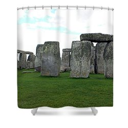 Shower Curtain featuring the photograph Stonehenge 1 by Francesca Mackenney