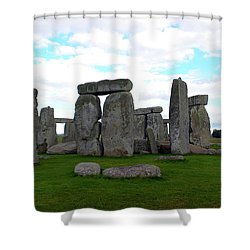 Shower Curtain featuring the photograph Stonehenge 3 by Francesca Mackenney