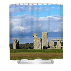 Shower Curtain featuring the photograph Stonehenge 4 by Francesca Mackenney