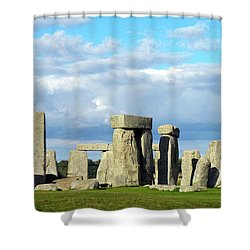 Shower Curtain featuring the photograph Stonehenge 5 by Francesca Mackenney