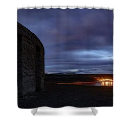 Shower Curtain featuring the photograph Stonehenge And The Columbia by Cat Connor