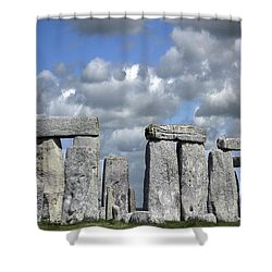 Stonehenge Shower Curtain by Elvira Butler