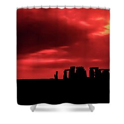 Stonehenge II Shower Curtain by Steve Harrington