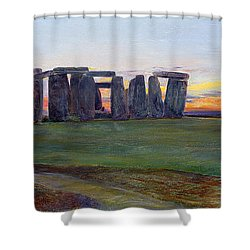 Stonehenge Shower Curtain by John William Inchbold