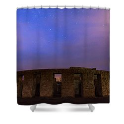 Shower Curtain featuring the photograph Stonehenge Sunrise by Cat Connor