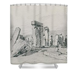 Stonehenge Wiltshire Shower Curtain by John Constable
