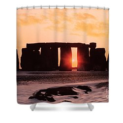 Stonehenge Winter Solstice Shower Curtain by English School