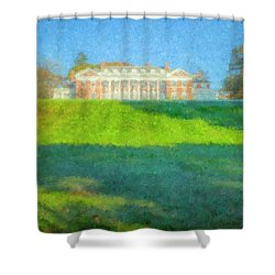 Stonehill College In October Shower Curtain