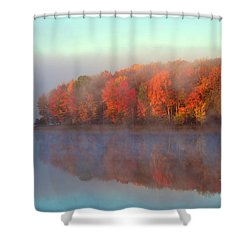 Stoneledge Lake Pristine Beauty In The Fog Shower Curtain