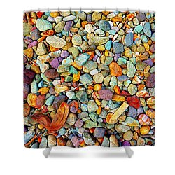 Stones And Barks On Beach Shower Curtain