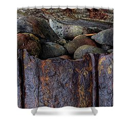 Rusted Stones 1 Shower Curtain
