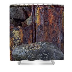 Rusted Stones 2 Shower Curtain