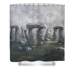 Shower Curtain featuring the painting Stones Of Time  by Megan Walsh