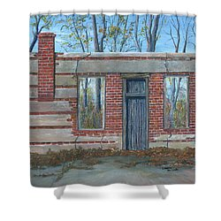 Stonewall Light, Highway 171 Shower Curtain