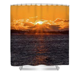 Stonington Point Sunrise Shower Curtain