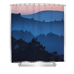 Stood Alone On The Mountain Top Shower Curtain