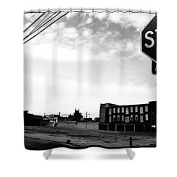 Shower Curtain featuring the photograph Stop All Way by Christopher Woods