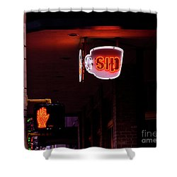 Stop And Sip Shower Curtain