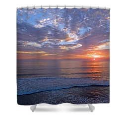 Stop And Think  Shower Curtain by Everette McMahan jr