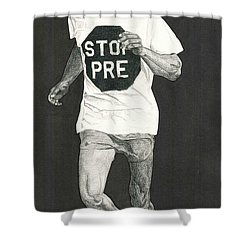 Stop Pre Shower Curtain