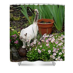 Stop To Smell Flowers Shower Curtain