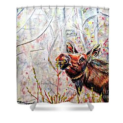 Stop To Smell The Weeds Shower Curtain by Tracy Rose Moyers
