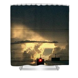 Stoplight In The Sky Shower Curtain