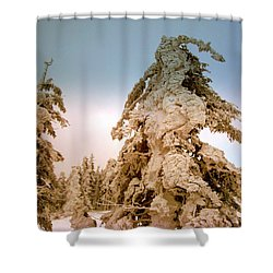 Stopped Wind Shower Curtain