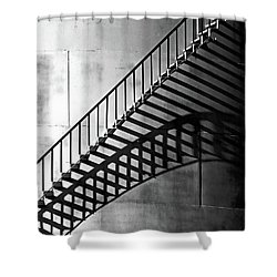 Storage Stairway Shower Curtain