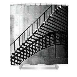Storage Stairway Shower Curtain