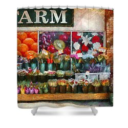 Store - Westfield Nj - The Flower Stand Shower Curtain by Mike Savad