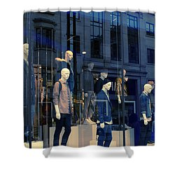 Store Window, London,uk Shower Curtain