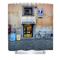 Storefront In Rome Shower Curtain