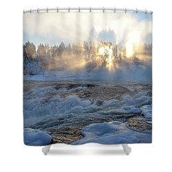 Storforsen, Biggest Waterfall In Sweden Shower Curtain