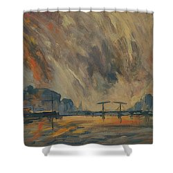Storm 18012018 Amstel Amsterdam Shower Curtain