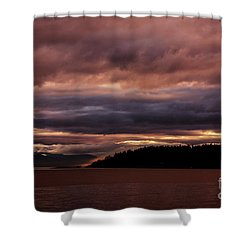 Storm 3 Shower Curtain by Elaine Hunter