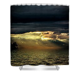 Storm 4 Shower Curtain by Elaine Hunter