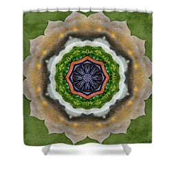Shower Curtain featuring the painting Storm Above by Jeff Kolker