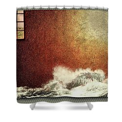 Storm Against The Walls Shower Curtain