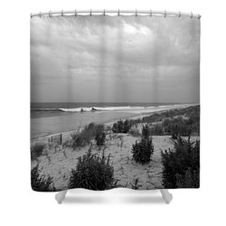 Storm Approaching - Jersey Shore Shower Curtain by Angie Tirado