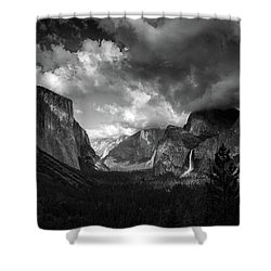 Storm Arrives In The Yosemite Valley Shower Curtain