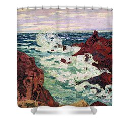 Storm At Agay Shower Curtain by Jean Baptiste Armand Guillaumin