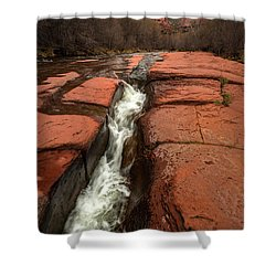 Storm At Cathedral Rock Shower Curtain