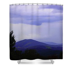 Storm At Lewis Fork Overlook 2014a Shower Curtain